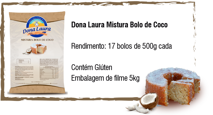 Dona Laura Mistura Bolo de Coco